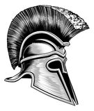 Casque de Spartan Ancient Greek Trojan Warrior Photo libre de droits