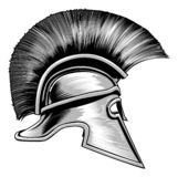 Casque de Spartan Ancient Greek Warrior Gladiator illustration libre de droits