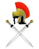 Casque et épées romains Photo libre de droits