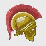 Casque historique de chevaliers d'icône dans le style plat Images libres de droits