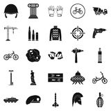 Casque icons set, simple style Royalty Free Stock Image