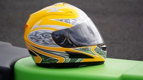Casque jaune Photos stock