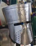 Casque médiéval de chevaliers de reproduction Photographie stock libre de droits