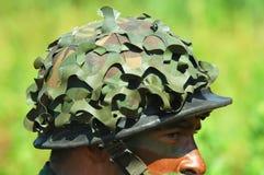 Casque militaire Image libre de droits