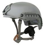 Casque militaire gris Photographie stock