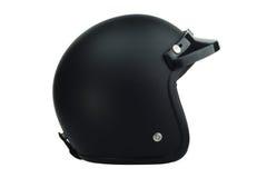 Casque noir de classique de motocyclette Photographie stock