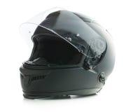 Casque noir de moto Photographie stock libre de droits