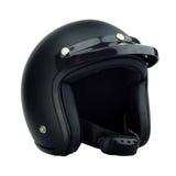 Casque noir de motocyclette Images stock