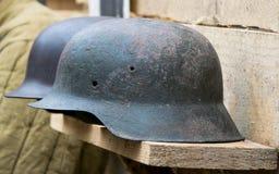 Casque par la deuxième guerre mondiale Photo stock