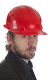 Casque rouge Image stock