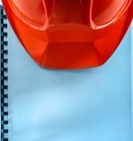 Casque rouge Photo stock