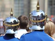 Casque royal de dispositif protecteur Images stock