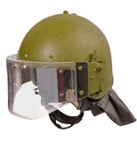 casque vert Photographie stock