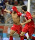 Casquero celebrates goal