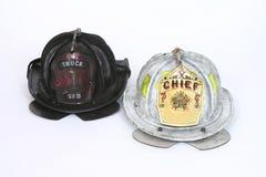 Casques d'incendie Photos libres de droits