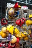 Casques de construction en Asie Photos libres de droits