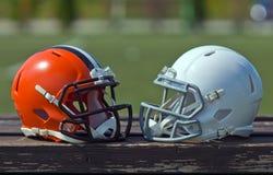 Casques de football américain Images libres de droits