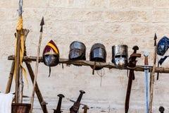 Casques et épées Photographie stock libre de droits