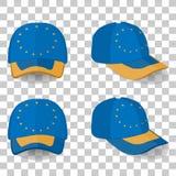 Casquette de baseball avec le drapeau des syndicats de l'Europe Ensemble coloré Illustration de vecteur Illustration de Vecteur