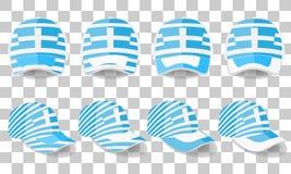 Casquette de baseball avec le drapeau de la Grèce Ensemble coloré Illustration de vecteur Illustration Libre de Droits