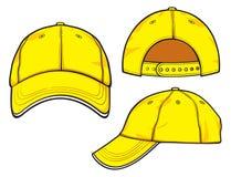 Casquette de baseball jaune Photo libre de droits