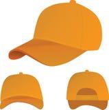 Casquette de baseball orange illustration libre de droits