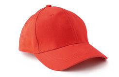 Casquette de baseball rouge Images libres de droits