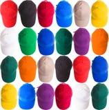 Casquettes de baseball colorées Image libre de droits