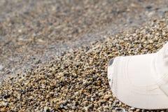 casquillo Arena piedra Playa fotografía de archivo libre de regalías