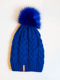 Casquillo azul Foto de archivo libre de regalías