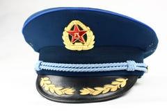 Casquillo azul de la fuerza aérea china Imágenes de archivo libres de regalías