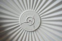 Casquillo blanco del tupperware Imagen de archivo