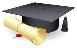 Casquillo de la graduación. imágenes de archivo libres de regalías