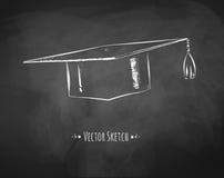 Casquillo de la graduación ilustración del vector