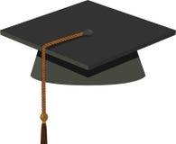 Casquillo de la graduación - birrete negro ilustración del vector