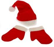 Casquillo de la Navidad con el guante de la Navidad Imagen de archivo libre de regalías