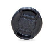 Casquillo de lente negro aislado sobre blanco Fotos de archivo libres de regalías