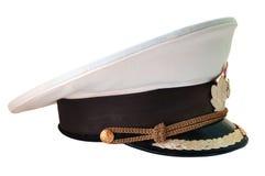 Casquillo de servicio ruso de la marina. Fotografía de archivo