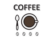 Casquillo del café con los granos de café Foto de archivo libre de regalías