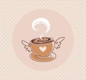 Casquillo del café del vector Fotos de archivo