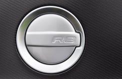 Casquillo del combustible de un Audi R8 Foto de archivo libre de regalías