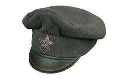 Casquillo del ejército rojo Foto de archivo libre de regalías