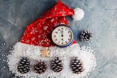 Casquillo del rojo de Santas Fotografía de archivo libre de regalías