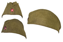 Casquillo del soldado del ejército ruso en la época del comunismo Fotografía de archivo libre de regalías