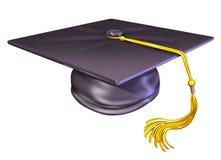 Casquillo del sombrero de la graduación Imagenes de archivo