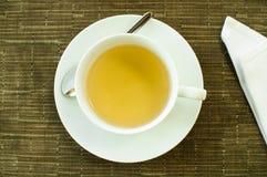 Casquillo del té verde Imágenes de archivo libres de regalías