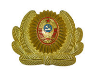 Casquillo-divisa de la milicia Imagenes de archivo
