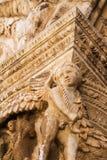 Casquillo gótico de la columna Foto de archivo