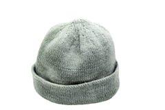 Casquillo hecho punto de lana Fotos de archivo libres de regalías