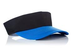 Casquillo negro y azul del tenis Foto de archivo